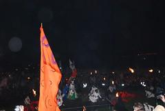 DSC_0556 Beltane Fire Festival 2009 - Calton Hill, Edinburgh - The Green Man Touching the White Women (Martin Robertson) Tags: festival fire scotland edinburgh redmen 2009 caltonhill pagan greenman beltane bluemen mayqueen whitewoman beltanefestival beltanefirefestival2009