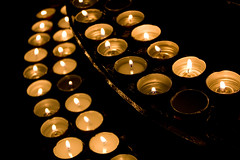 ......That their light may always shine (Pikke) Tags: church lights candle oro candele chiese