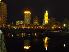 Providence skyline at night