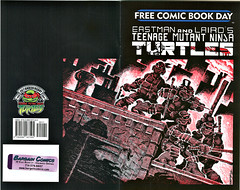 """Teenage Mutant Ninja Turtles"" Volume 1. #1 / 25th anniversary printing { F.C.B.D. } entire wrap-around cover by Kevin Eastman & Peter Laird (( 2009 ))"