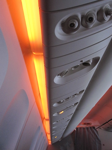 AC's light show for long flights