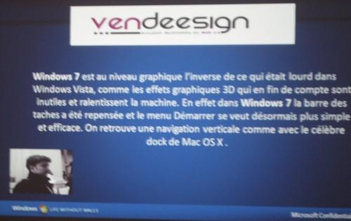 Soirée présentation Windows Seven