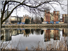 Reflections on the Clyde (mcgin's dad) Tags: reflections riverclyde glasgow canondigitalixus70 flickrestrellas mirrorser