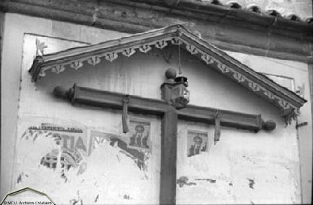 Cristo de Santo Tomé destrozado por republicanos en 1936. Foto Erich Andres. Ministerio de cultura. Centro Documental de la Memoria Histórica