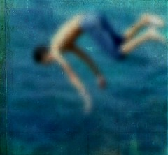 Drowning in History (Michelle Brea) Tags: blue sea blur color art texture swim photography kid movement moments arms artistic capture feelings michellebrea lesbrumes photodistorzija4