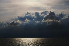 A silver lining (Johan_Leiden) Tags: sea sky netherlands dutch clouds silver landscape nederland thenetherlands lining oostvaardersdijk