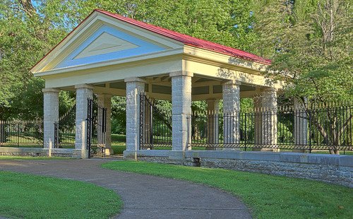 Tower Grove Park, in Saint Louis, Missouri, USA - Bull Pen gate