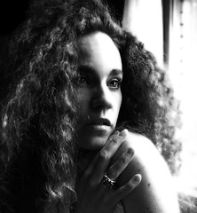 [ siempre ] (DaizyB) Tags: light people woman selfportrait window face self project hair nikon glow different dream curls ring journey gaze important d300 blackwhitephotos
