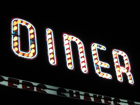 Big Daddy's Diner sign (Click to enlarge)