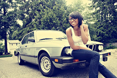 Guadalupe (danicathomas|photo) Tags: trees car tires driveway bumper freak 1984 bmw olympia vehicle parked guadalupe 528e