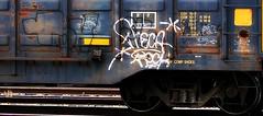 conrail twitty/ zeke (mightyquinninwky) Tags: railroad geotagged graffiti sticker tag tracks railway tags tagged rails boxcar graff graphiti zeke freight gravel trainyard trainart paintedtrain freightyard railart steelwheels easeup conrailtwitty wafflecar paintedboxcar markallpen geo:lat=37954824 geo:lon=87616863