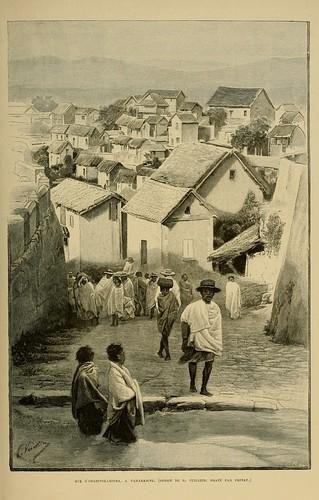 003-Calle de Imarivolanitra en Tananarive- Madagascar finales siglo XIX