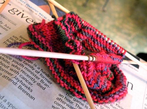 melanie's rainy-day knitting
