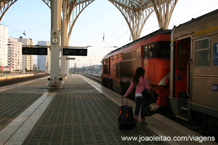 Comboio / trem Lisboa ate Evora Portugal