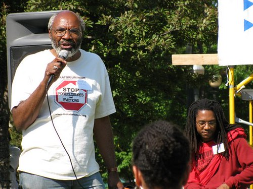 Abayomi Azikiwe, editor of the Pan-African News Wire, speaking at the People's Summit beginning on June 14, 2009 at Grand Circus Park in downtown Detroit. (Photo: Alan Pollock) by Pan-African News Wire File Photos