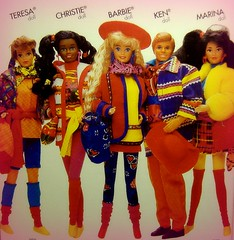 Benetton complete playline (Blythemaniaco) Tags: colors fashion marina doll box united moda ken barbie caja teresa christie kira mattel 1990 complete mueca benetton completa lnea playline