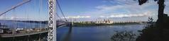 George Washington Bridge Optical Illusion (monashah6767) Tags: hudsonriver hudson georgewashingtonbridge opticalillsuion