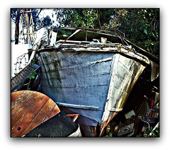 ABANDON SHIP! (craftedfromtheheart) Tags: forest photoshop junk australia melbourne victoria explore mtdandenong artisticphotography littleboat explored upwey elements4 abigfave craftedfromtheheart screamofthephotographer clanflickr artofimages friendswhosupportfriends lamiciziafaladifferenza iwonderwhenitlastsawwater
