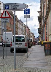Hinweisschild an der Ecke Prießnitz-/Louisenstraße