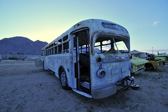 (picturenarrative) Tags: auto california usa bus abandoned monument car death ruins gm decay urbanexploration americana junkyard recycle derelict boneyard mojavedesert urbex highway395 uer pearsonville automobilies