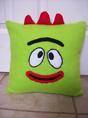 Brobee pillow front