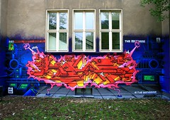 KACAO77 2010 / THE MACHINE (KACAO77 UNIVERSES) Tags: fiction 2 3 berlin art wall illustration writing germany painting 1 design mural lab comic glow mark 5 4 experiment machine ironman science beginning fanart crew cover letter laser mandarin marvel graffit 77 2010 universes the unmasked in kacao77 kacao novax ellenkey2