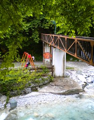 Loutra Pozar, Greece - May 2010 (PattyK.) Tags: trip travel bridge vacation streetart nature forest river children nikon europa europe colours weekend hellas eu graffity urbanart greece macedonia grecia coolpix balkans griechenland europeanunion grece traveler pella  ellada loutraki nikoncoolpix bytheriver loutra makedonia    pozar                loutrapozar     loutraloutrakiou  prefectureofpella nomospellas