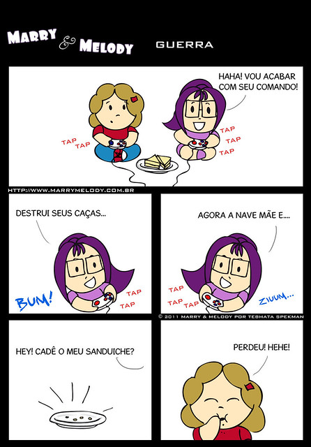 Tirinha, guerra, marry, melody, humor, webcomic, game, nerd