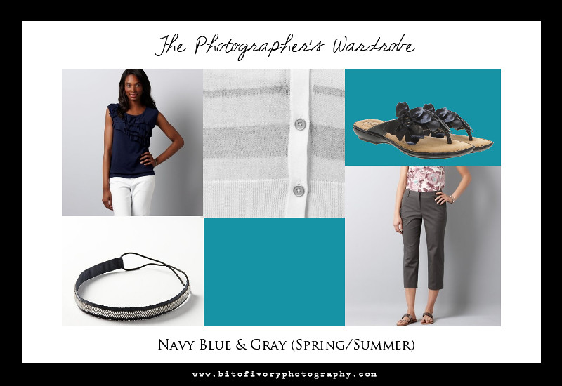 Navy Blue and Gray Photographer Outfit
