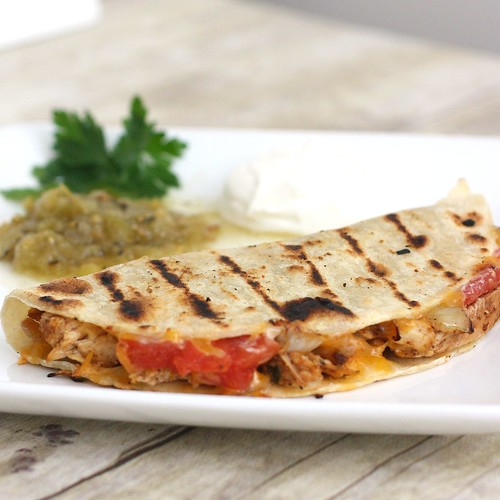 Grilled Quesadillas with Grilled Chicken, Tomatoes and Onions | Tracey ...
