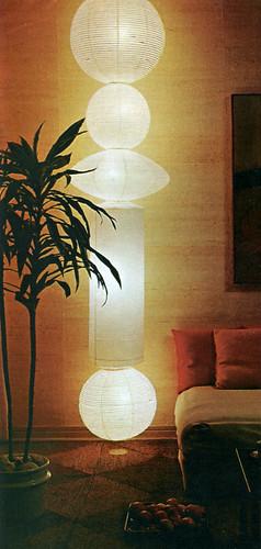 60s DIY lamp made from bamboo lanterns