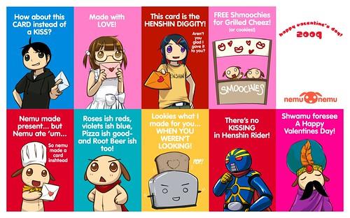 2009 nemu*nemu V-day Cards preview