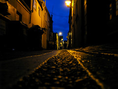 no diggety (monkeymillions) Tags: street morning light sky lines night dark early brighton guess where gwb
