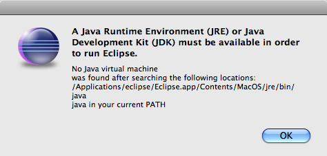eclipse-java-environment-startup-error