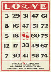 Free Valentines vintage style bingo card (by Tonya Doughty)