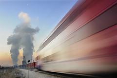 Wasatch Frontrunner (jssutt) Tags: sunlight utah smog trains steam getty masstransit gettyimages railroads railyards oilrefinery flyingj frontrunner jssutt jeffsuttlemyre