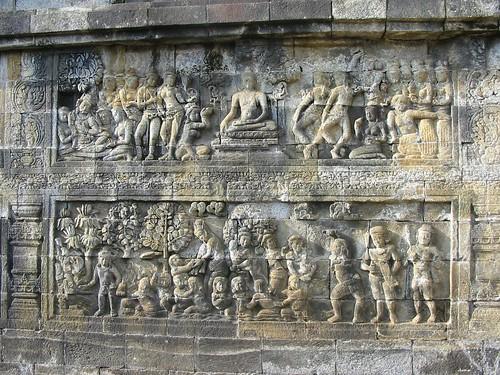 Prachtige details van de reliëfs