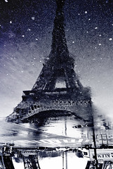 ~ reflecting Paris ~ reflets de Paris ~ (Janey Kay) Tags: sky favorite distortion paris france reflection home water rain clouds reflections puddle frankreich eau wasser eiffeltower pluie himmel cu reflet ciel cielo toureiffel stadt abstraction chewinggum favourite nuages nuvem eiffelturm spiegelung reflets 2009 nube regen vill