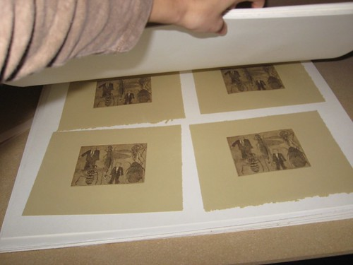 Etching Step 10: Drying the Prints