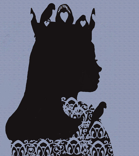 Silhouette-queen-of-the-bluebirds