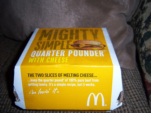 Quarter Pounder With Cheese Box was horribly em...