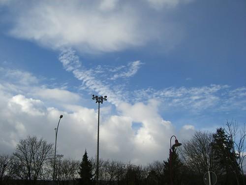 Clouds in the sun