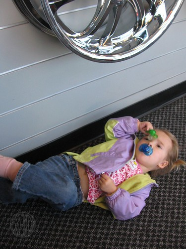 waiting for a new tire is very tiring