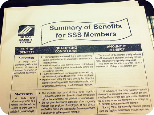 Know your SSS Benefits