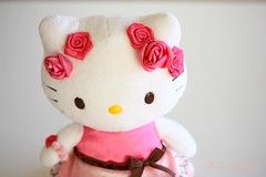 The embodiment of pink cuteness (5) (Piccolina Photography) Tags: hellokitty hk cat kitten kitty pink white cute kawaii japan japanesecharacters sanrio ilovehellokitty adorable precious plushie plush stuffedanimal stuffie doll roses lightpink palepink pretty bows ears catears fabricroses flowers ribbon brown dress pinkshoes pinkdress accessories dolls whitebackground softlight softcolors delicate lovely