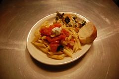 goat cheese tomato penni w/ gratin