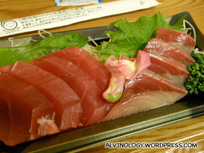 Tuna and swordfish sashimi