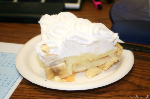 Banana Cream Pie Topped With Whip