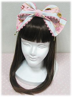 Angelic Pretty Wonder Party headbow (pink x sax)