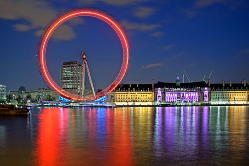 London Eye at Night / Philipp Klinger Photography